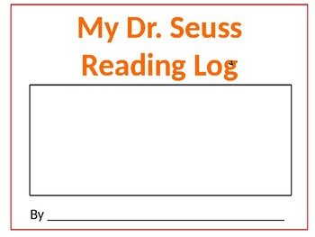 Dr. Seuss Reading Log