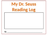 Dr. Seuss Reading Log