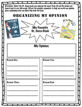 Dr. Seuss Books Opinion Writing