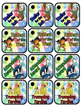 Dr. Seuss Brag Tags