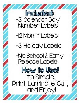 Dr. Seuss Calendar Labels