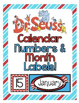 Dr. Seuss Calendar Labels