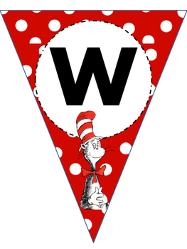 Dr. Seuss Cat In The Hat (Word Wall Banner)