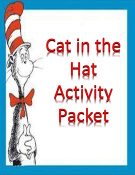 Dr. Seuss Cat in the Hat Activity Packet