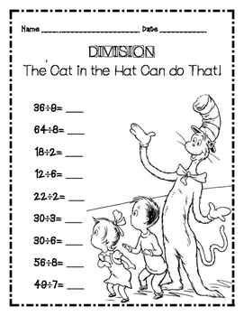 Dr. Seuss Cat in the Hat Division