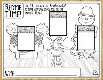 Rhyme Time-- Rhyme Sort Printables