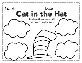 Dr. Seuss Cat in the Hat Web / Graphic Organizer