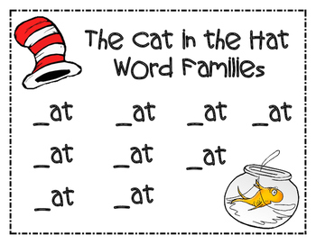 Dr. Seuss Cat in the Hat Word Families
