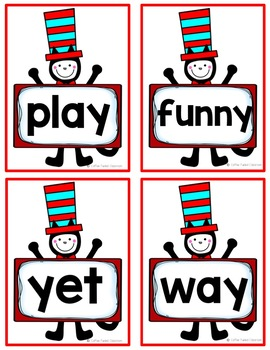 Dr Seuss Cat in the Hat Word Work