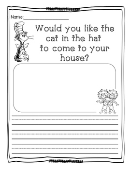 Dr. Seuss- Cat in the Hat Writing