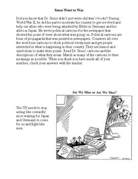 Dr. Seuss Centers (Oobleck, Thinks You Can Think, Political Cartoons