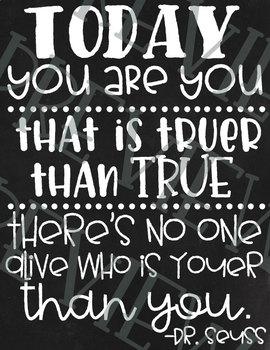 Dr. Seuss Chalkboard Quote