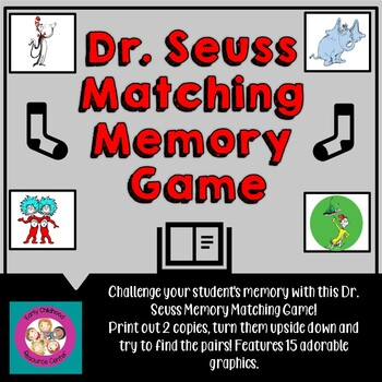 photograph regarding Printable Images of Dr Seuss Characters identified as Dr. Seuss Persona Matching Memory Recreation
