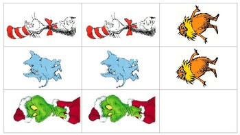 Dr. Seuss Character Memory Game