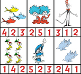 Dr. Seuss Characters Preschool Counting Page