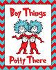 Dr. Seuss Classroom Boy/Girl potty Signs!