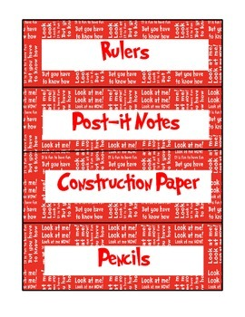 Dr. Seuss Classroom-Supply Labels