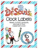 Dr. Seuss Clock Labels