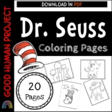 Dr. Seuss Inspired Coloring Pages | EDITABLE