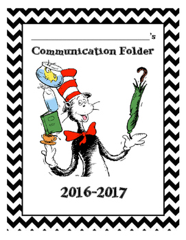 Dr. Seuss Communication Folder Cover Sheet