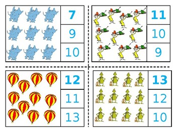 Dr. Seuss Count and Clip 1-20