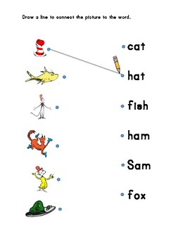 Dr. Seuss Counting and Word Match