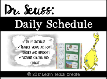 Dr. Seuss Daily Schedule