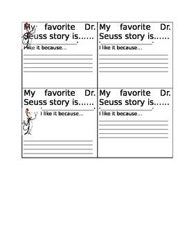 Dr. Seuss Day Activity
