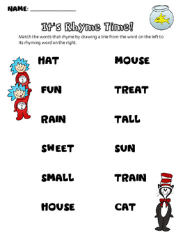 Dr. Seuss Day: It's Rhyme Time!