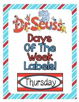 Dr. Seuss Days of the Week