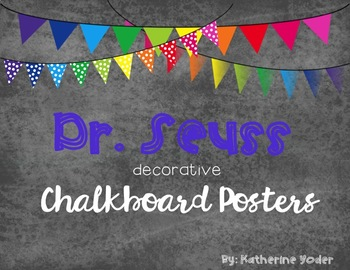 Dr. Seuss Decorative Classroom Posters