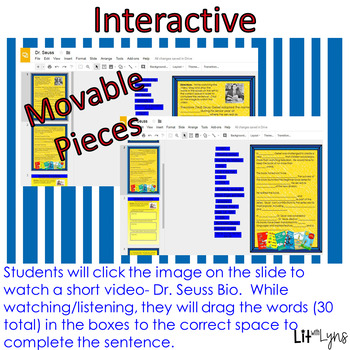 Dr. Seuss Digital Close Reading & Comprehension Activities