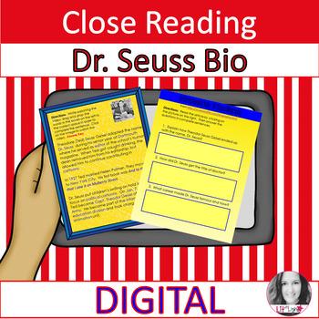 DR. SEUSS CLOSE READING & COMPREHENSION QUESTIONS