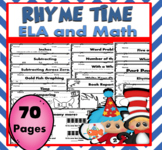 Dr. Seuss Activities ELA and Math 70 Pages / Read Across America / Seuss
