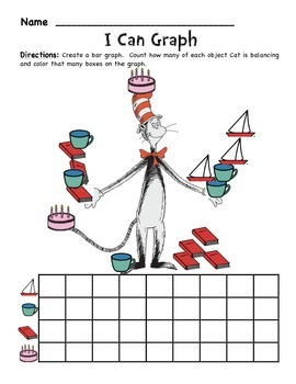 Dr. Seuss ELA and Math Worksheet Bundle- Read Across America