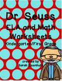 Dr. Seuss ELA and Math Worksheets