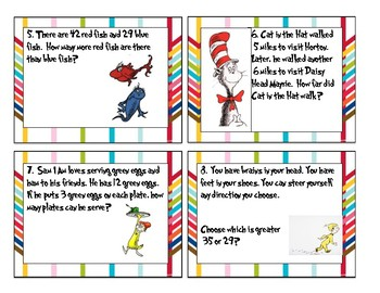 Dr. Seuss Early Elementary Tasks Cards