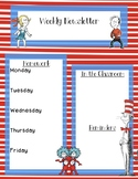 Dr. Seuss Editable Weekly Newsletter