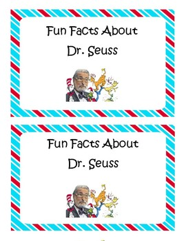 Dr. Seuss Emergent Reader Fun Facts