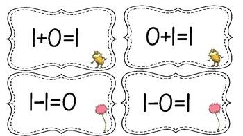 Dr. Seuss Fact Family Matching Cards