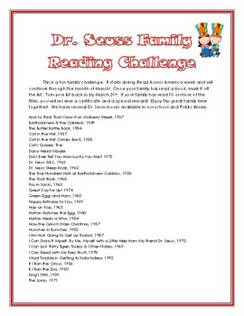 Dr. Seuss Family Reading Challenge