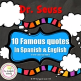Dr.Seuss Famous Quotes in Spanish & English,COLOR & B/W