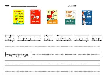 Dr. Seuss Favorite Book Writing