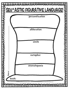 Read Across America Figurative Language Graphic Organizer