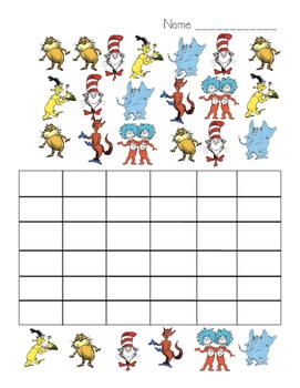 Dr. Seuss Fill in Graph