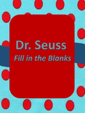Read Across America-  Fill in the Blanks