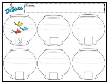 Dr. Seuss Fish Counting & Subitizing Practice Mat