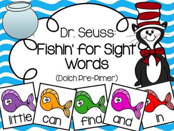 Fishin' for Sight Words (Dolch Pre-Primer)