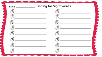Dr Seuss Fishing for Sight Words