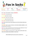 Fox in Socks Readers Theater